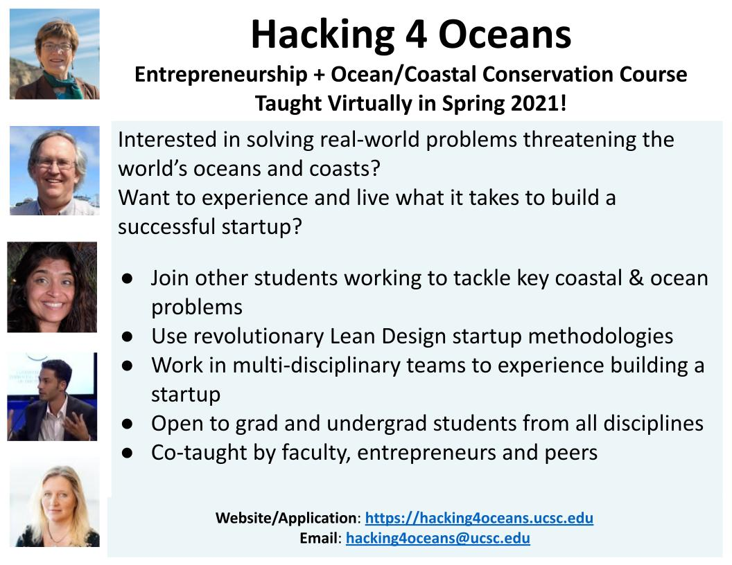 Still Time to Join the 2021 Hacking4Oceans Course!